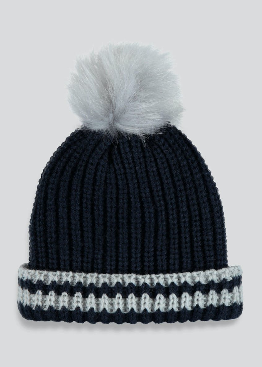 Unisex Faux Fur Bobble Hat (Newborn-23mths)
