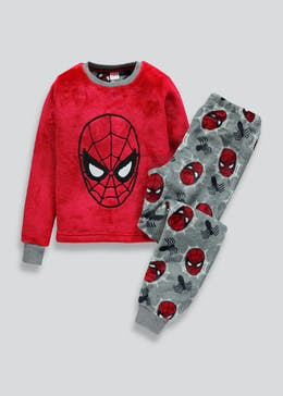 Kids Spider-Man Fleece Pyjama Set (2-9yrs)