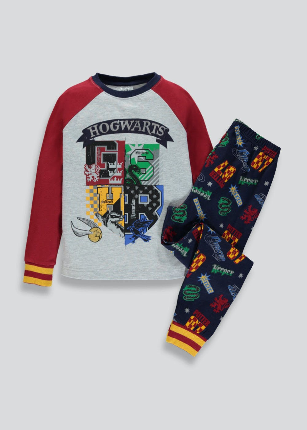 77419a181d Kids Harry Potter Hogwarts Pyjama Set (5-12yrs) – Blue – Matalan