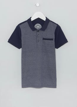 Mini Me Boys Geometric Polo Shirt (4-13yrs)
