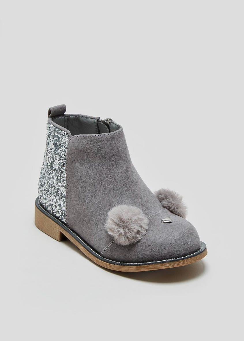 Girls Glitter Bunny Boots (Younger 4-12)