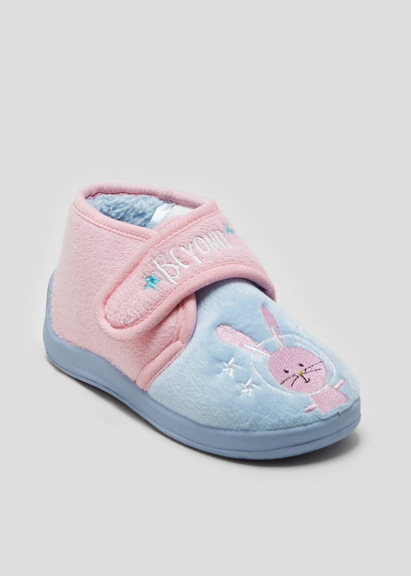 Kids Co-Ord Space Bunny Slippers (Younger 4-12)
