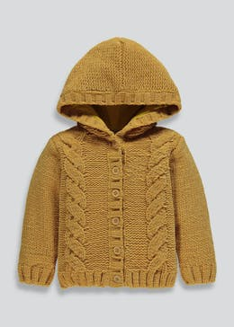 Kids Cable Knit Hooded Cardigan (3mths-6yrs)