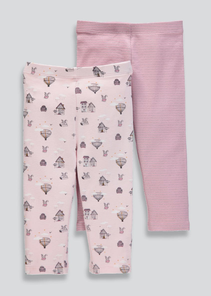 Girls 2 Pack Leggings (3mths-6yrs)