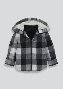 Boys Check Hooded Shacket (9mths-6yrs)