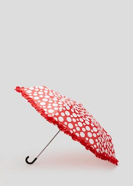Polka Dot Ruffle Umbrella