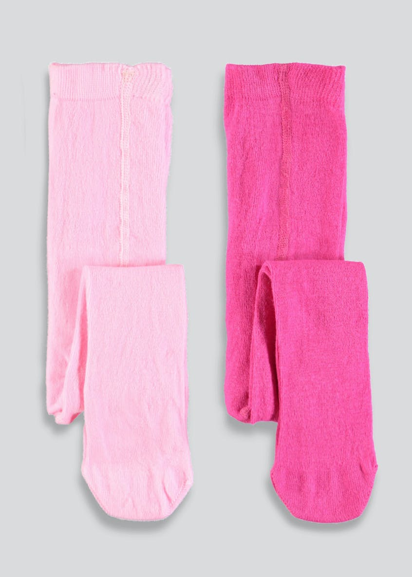 Girls 2 Pack Tights (Newborn-23mths)