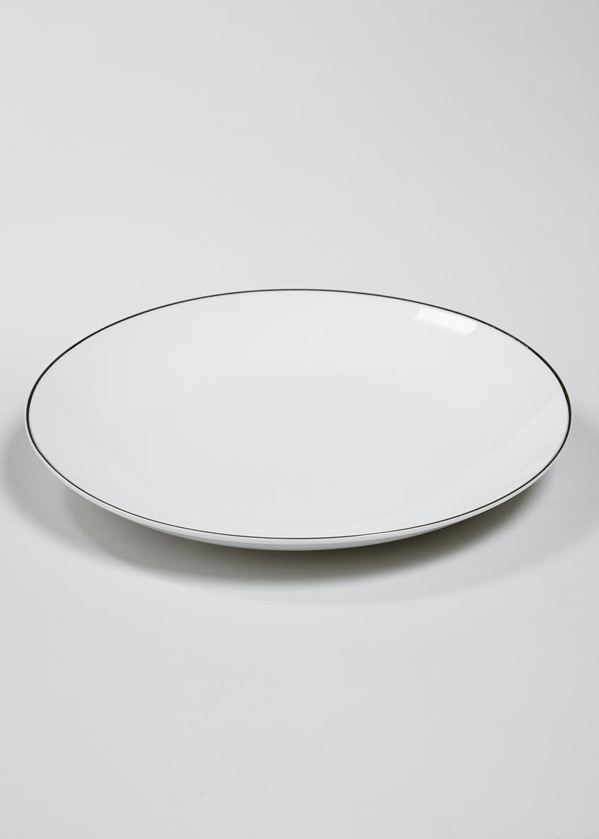 Metallic Rim Dinner Plate (27cm)