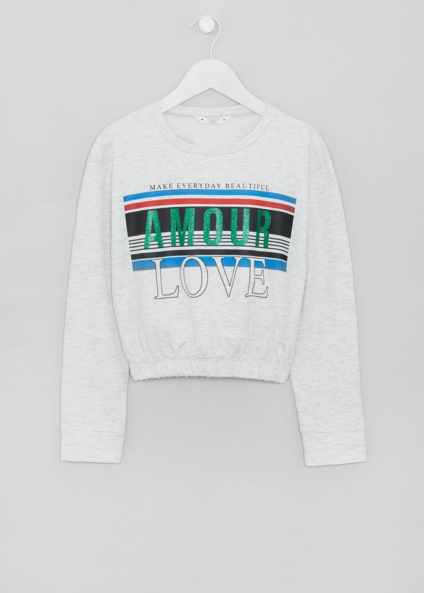 Girls Candy Couture Amour Slogan Sweatshirt (9-16yrs)