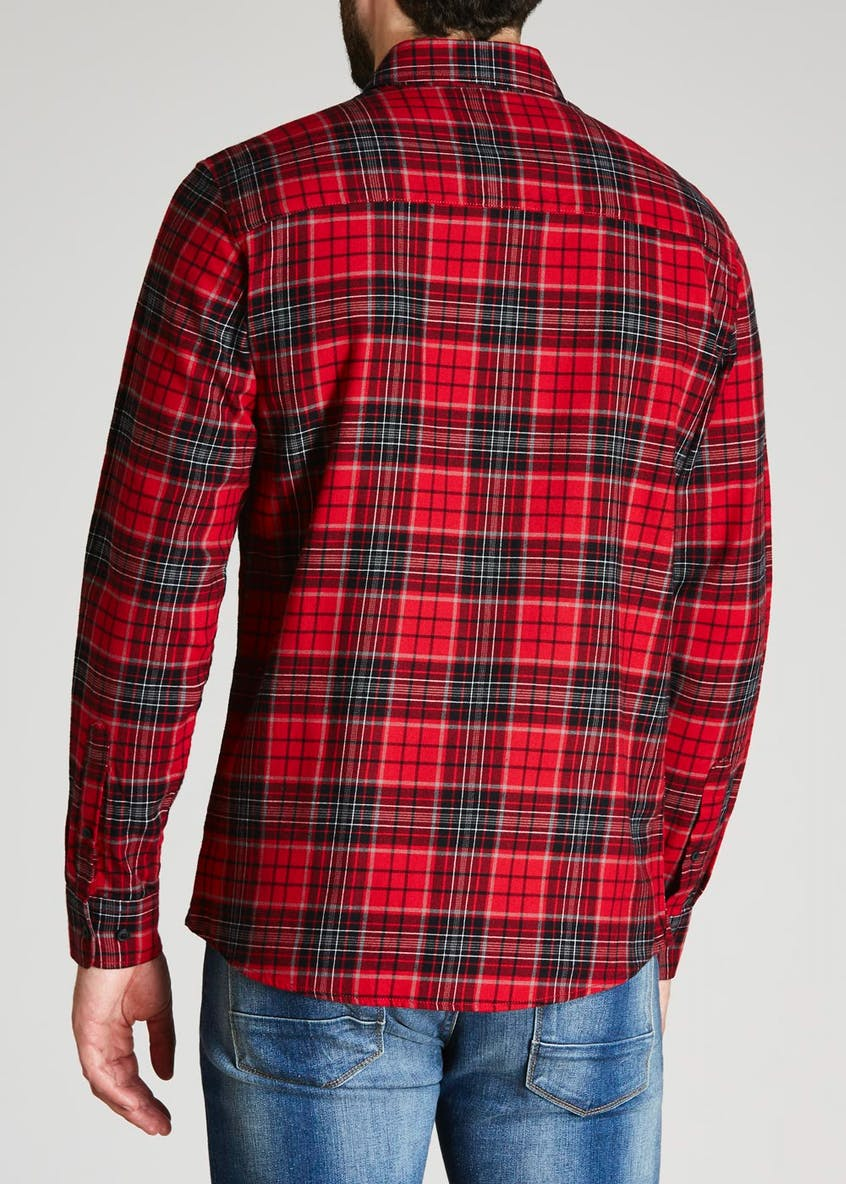 Big & Tall Long Sleeve Flannel Check Shirt