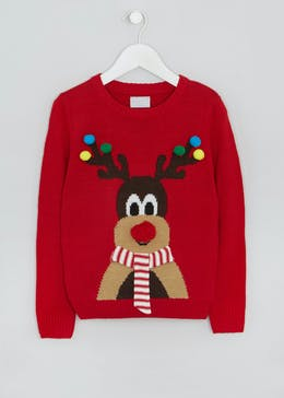 Mini Me Kids Family Reindeer Christmas Jumper (4-13yrs)