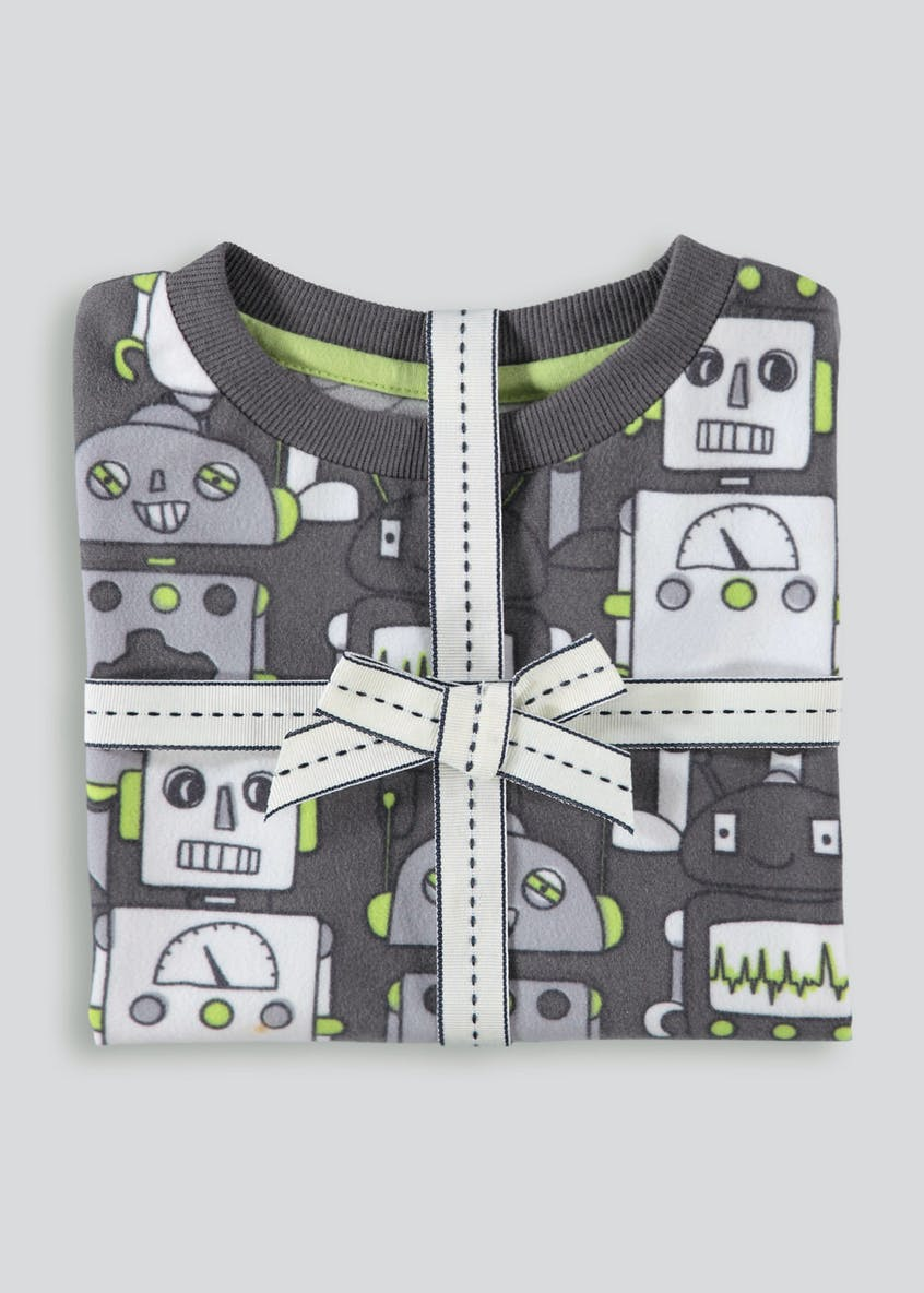 Boys Robot Fleece Pyjama Set (12mths-5yrs)