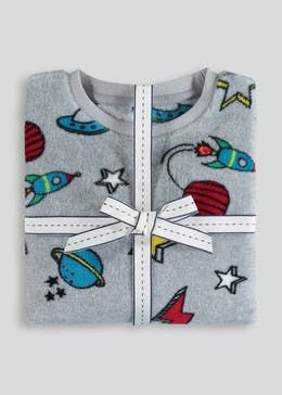 Kids Fleece Space Pyjama Set (6-13yrs)