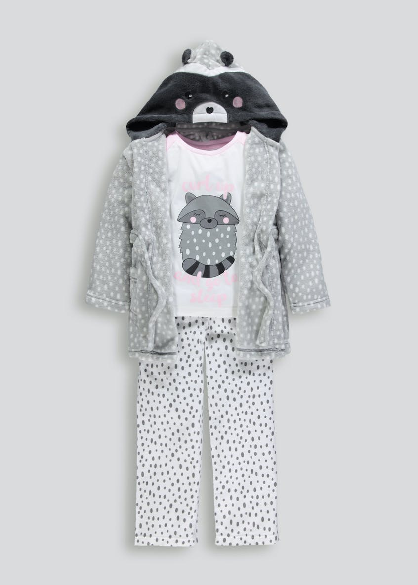 Kids 3 Piece Raccoon Pyjama Set (4-13yrs)