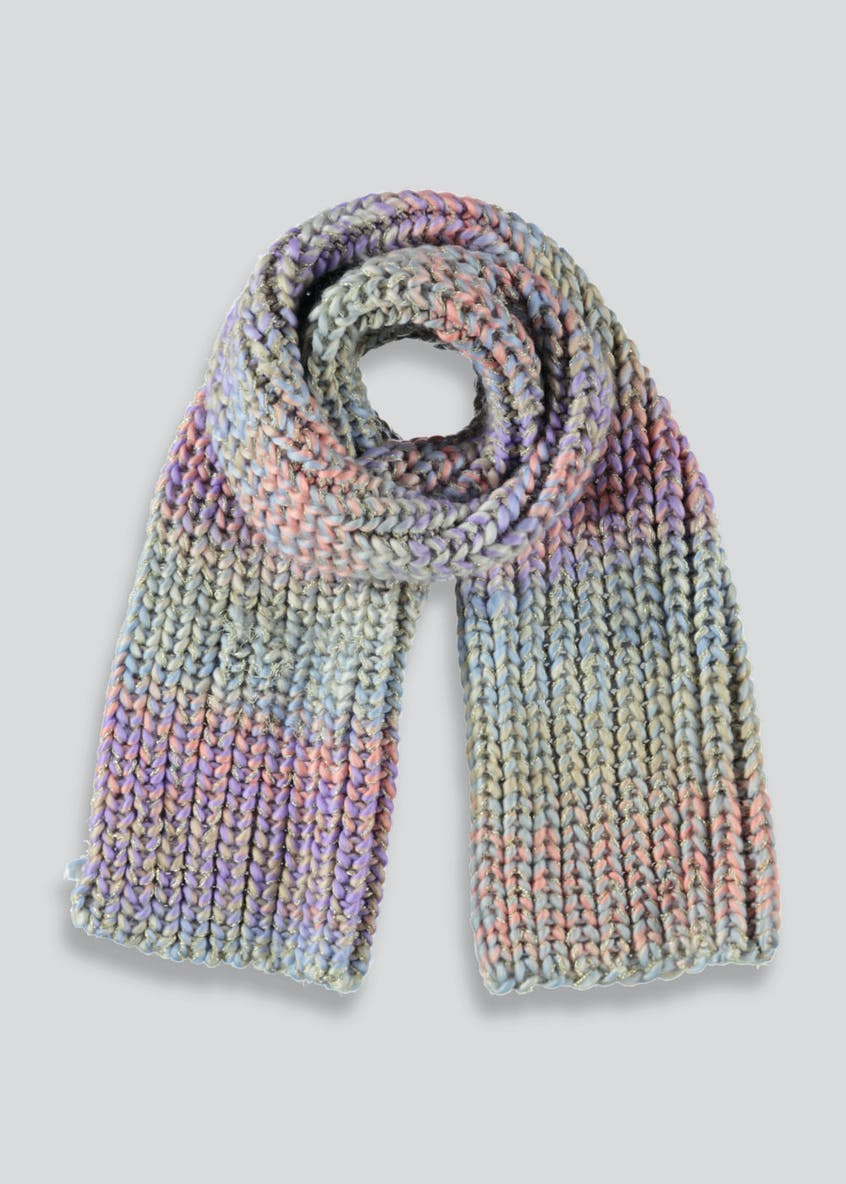 Girls Rainbow Space Dye Scarf (3-13yrs)