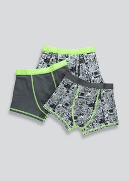 Boys 3 Pack Printed Trunks (2-13yrs)