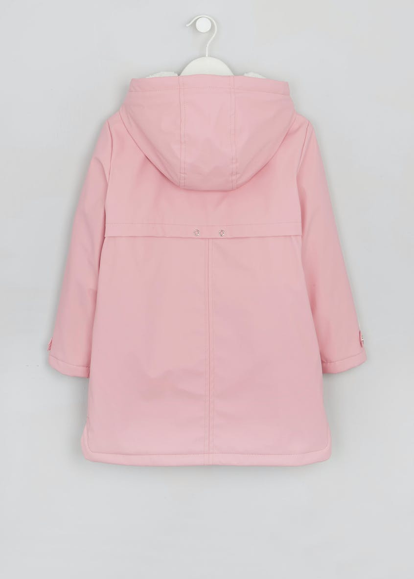 Girls Borg Lined Rain Mac (4-13yrs)