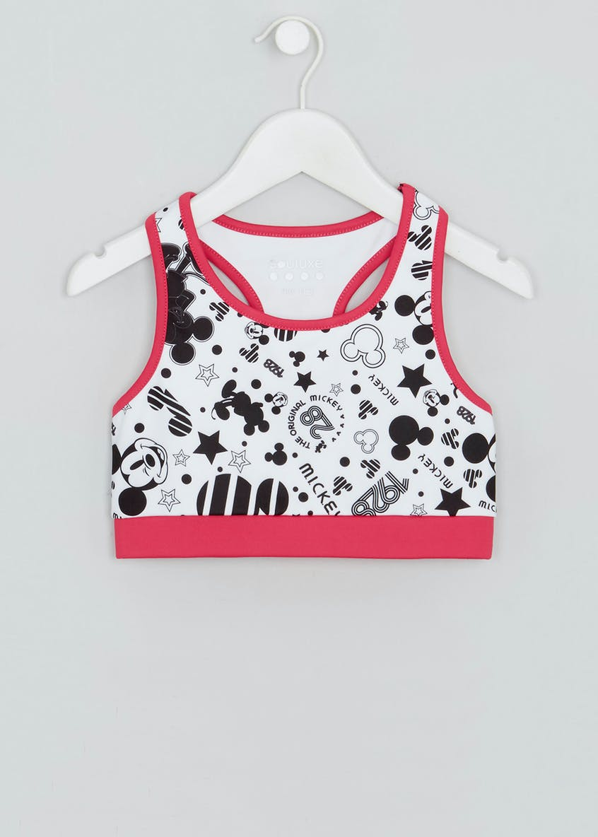 Girls Souluxe Disney Mickey Mouse Sports Crop Top (9-13yrs)