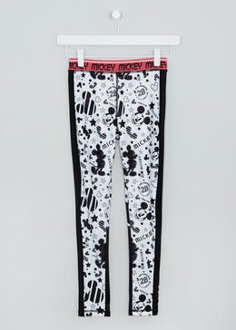 Girls Souluxe Disney Mickey Mouse Sports Leggings (9-13yrs)