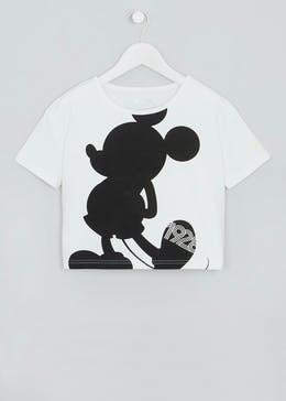 Girls Souluxe Disney Mickey Mouse Sports T-Shirt (9-13yrs)