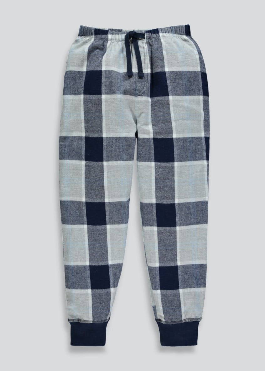 Boys Check Lounge Pyjama Bottoms (6-16yrs)
