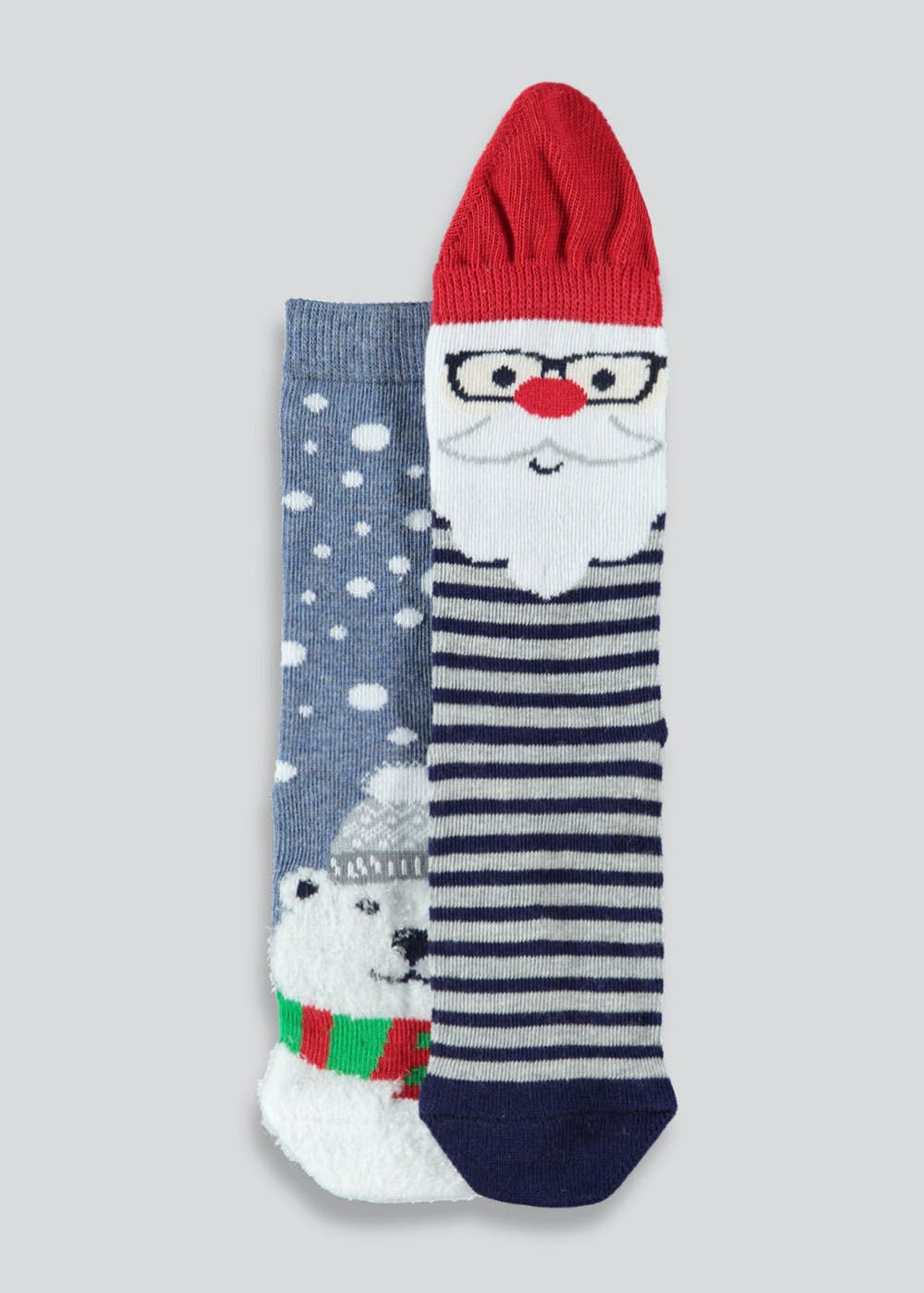 fdcb287e1bf Kids 2 Pack Christmas Socks (Younger 6-Older 6.5) – Multi – Matalan