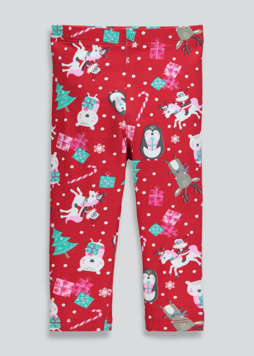 a09ade20ae3ba Girls Christmas Leggings (3mths-6yrs) – Red – Matalan
