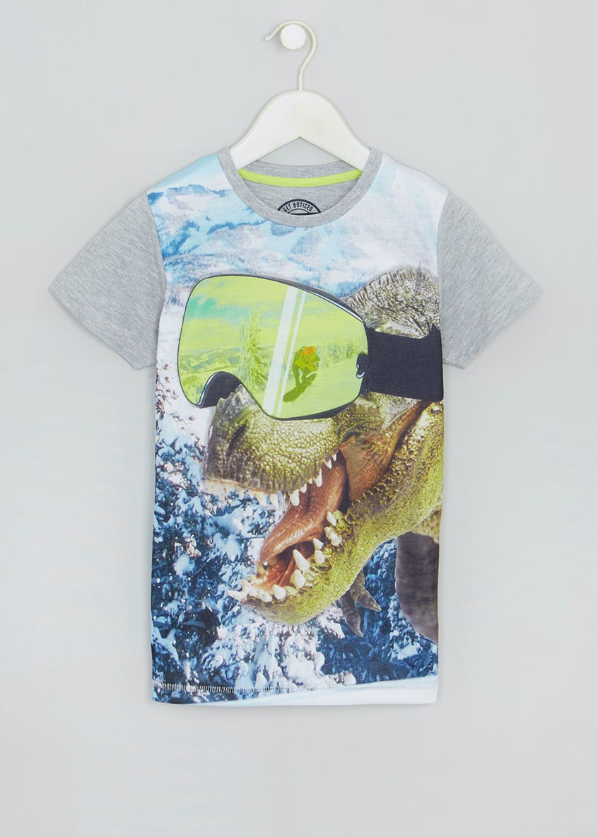 Kids Goggle Dinosaur T-Shirt (4-13yrs)