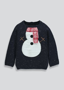 Kids Snowman Christmas Jumper (6mths-6yrs)