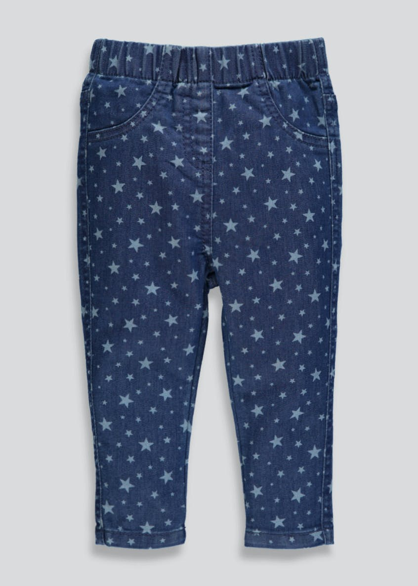 Girls Star Jeggings (3mths-6yrs)