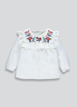 Girls Floral Embroidered Blouse (3mths-6yrs)