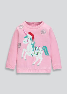Kids Unicorn Christmas Jumper (3mths-6yrs)