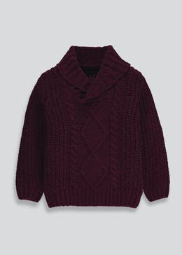 Boys Chenille Cable Knit Jumper (9mths-6yrs)