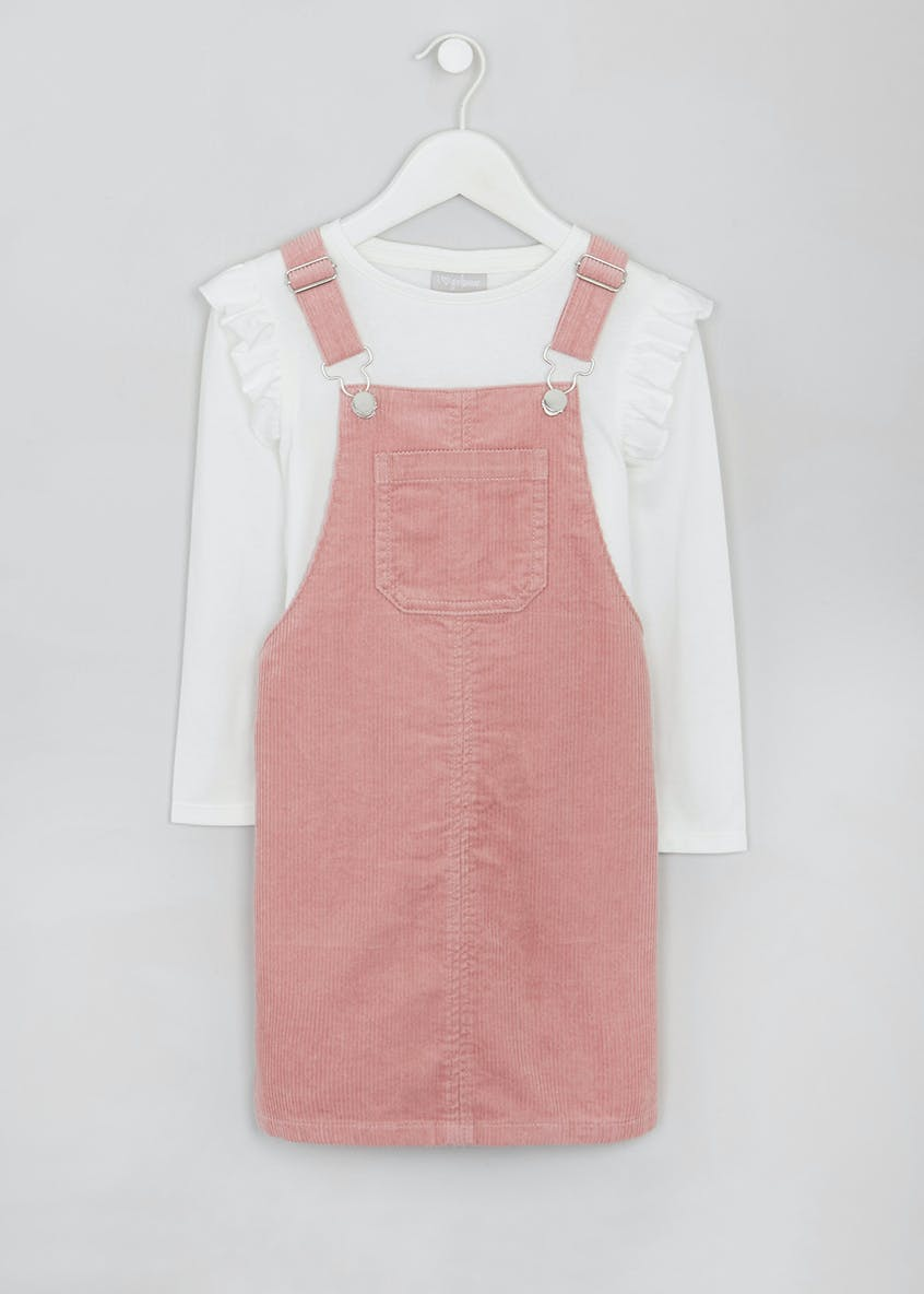 Girls Cord Pinafore Set (4-13yrs)
