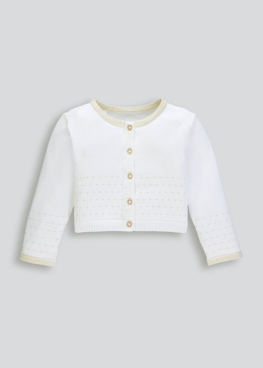 a5c7a585b9bb Girls Lurex Cardigan (9mths-6yrs) – Cream – Matalan