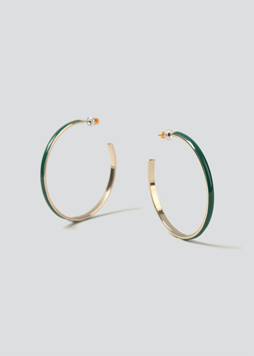Enamel Inlay Hoops