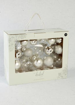 42 Pack Glass Christmas Tree Baubles