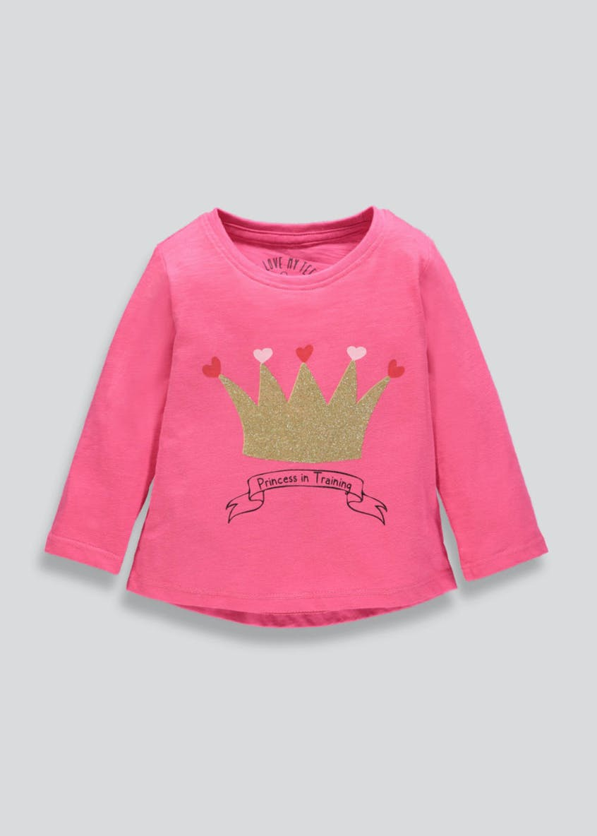 Girls Crown Long Sleeve T-Shirt (3mths-6yrs)