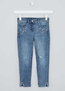Girls Pearl Appliqué Jeans (4-13yrs)