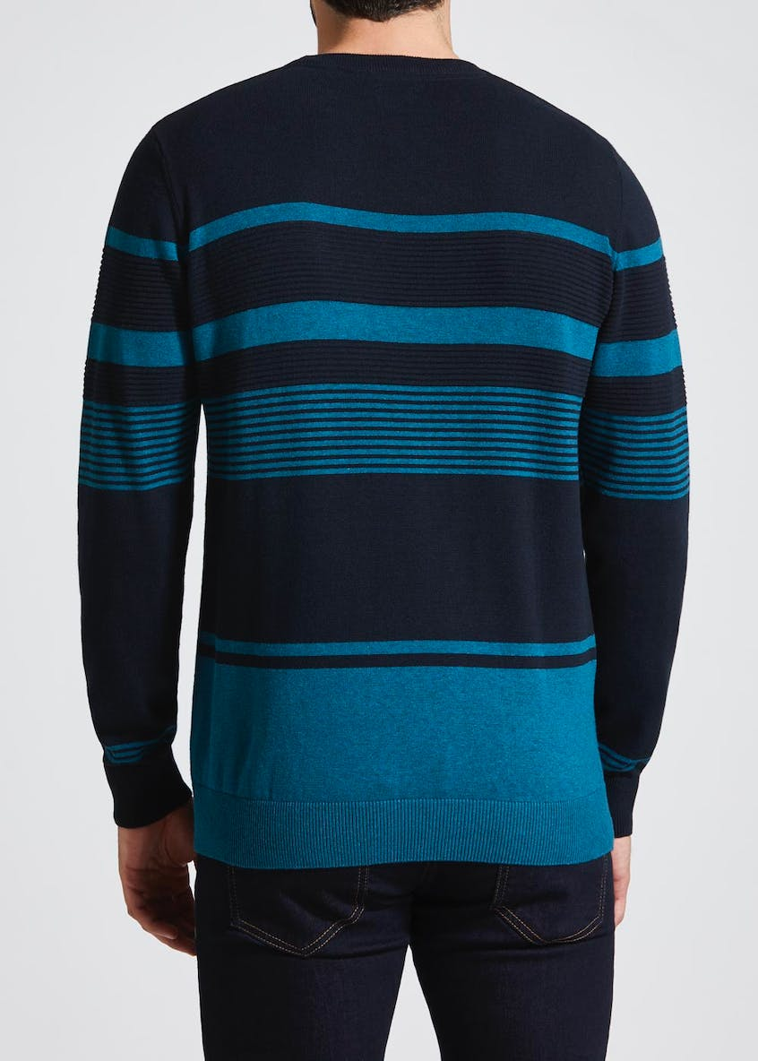 Big & Tall Crew Neck Stripe Jumper