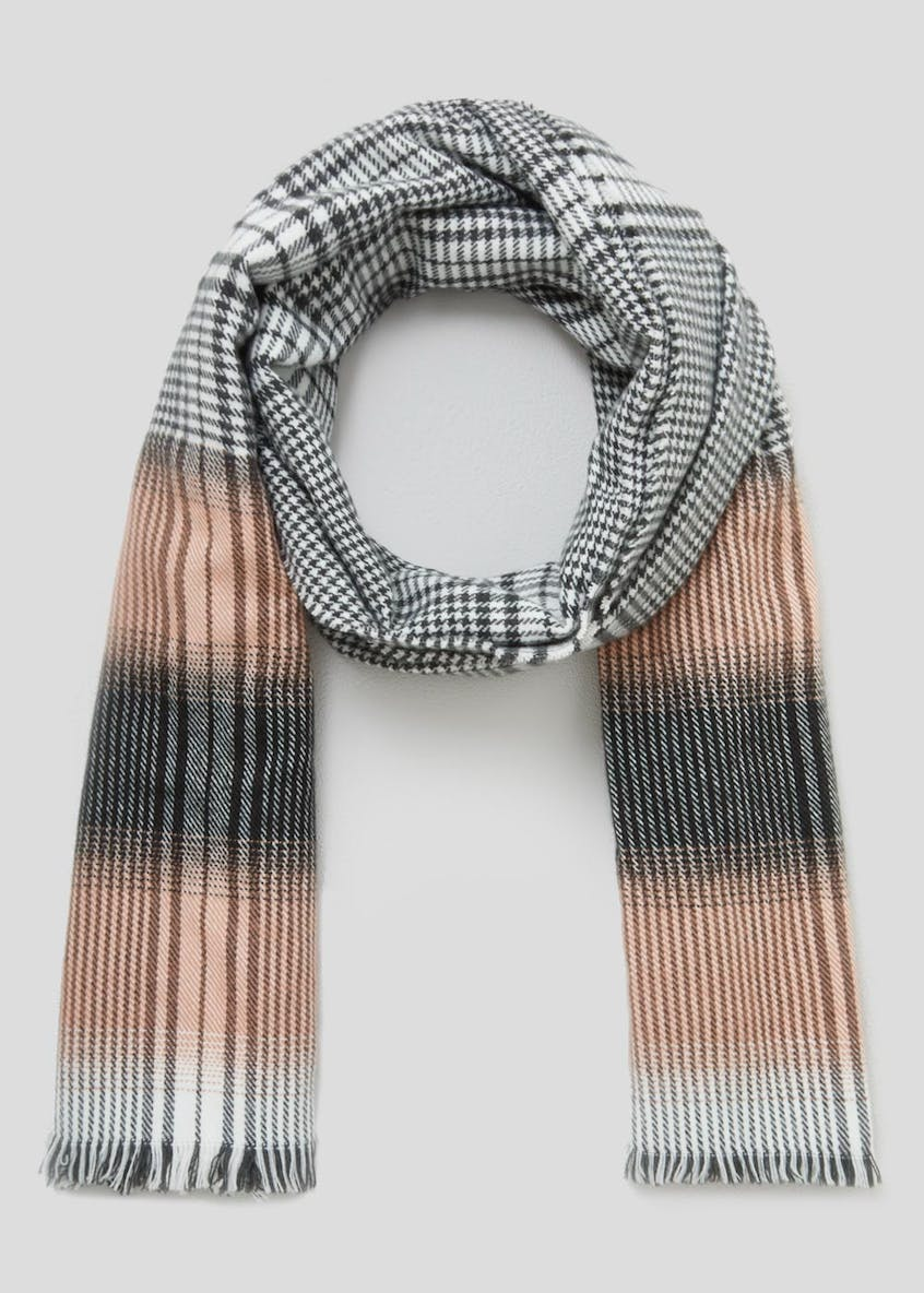 Ombre Check Scarf