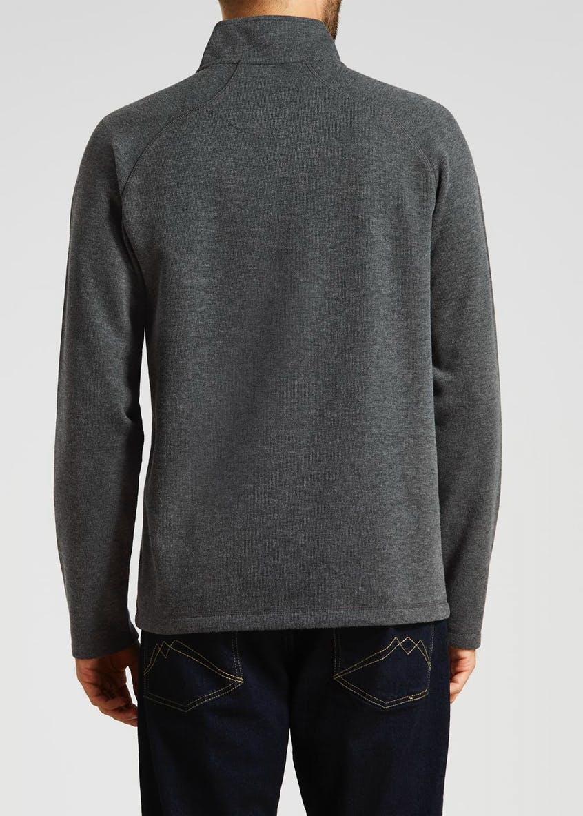 Half Zip Funnel Neck Sweatshirt