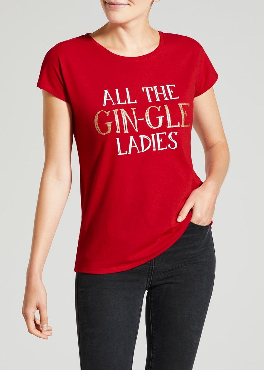 Gin Slogan Christmas T-Shirt