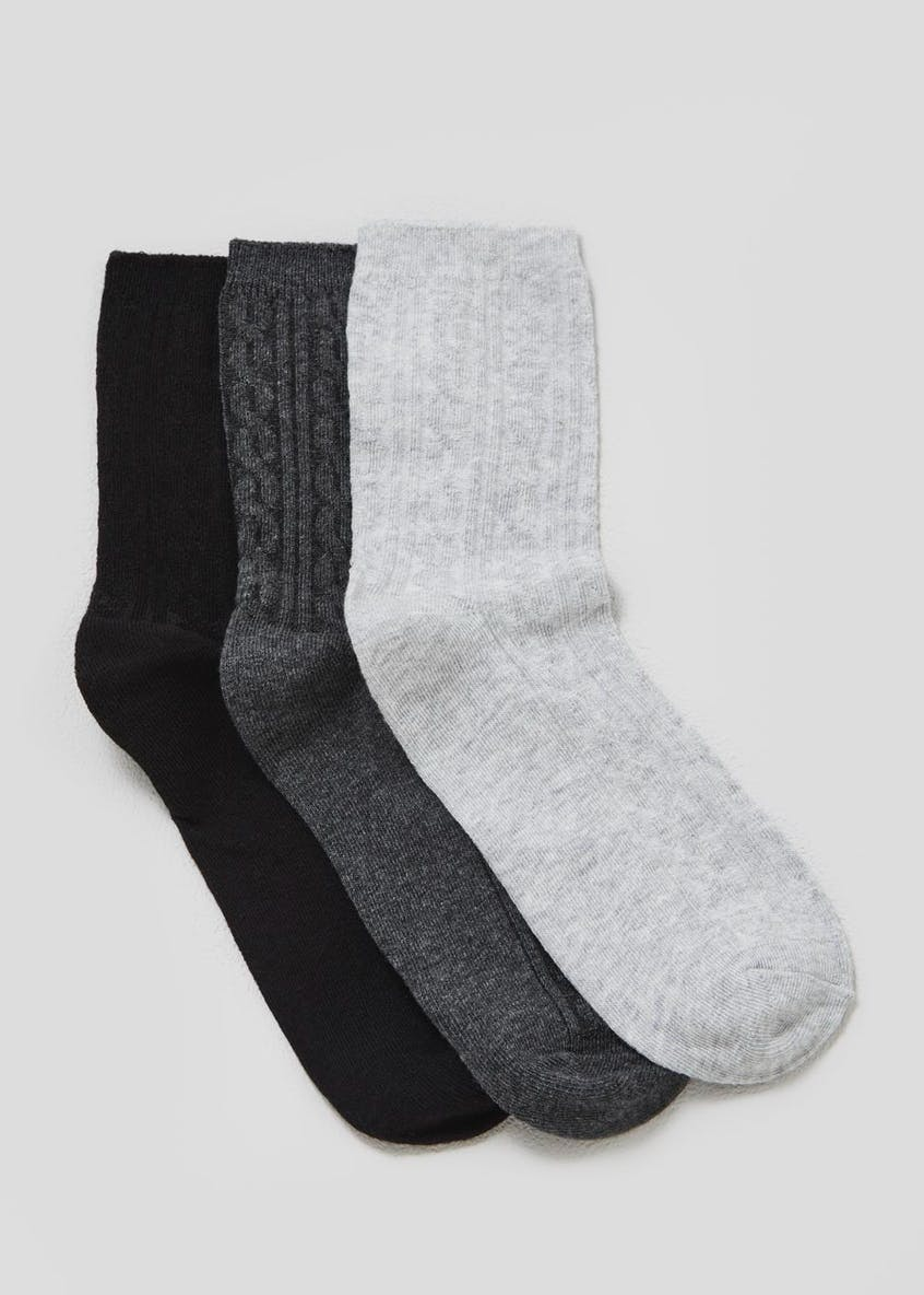 3 Pack Cable Socks
