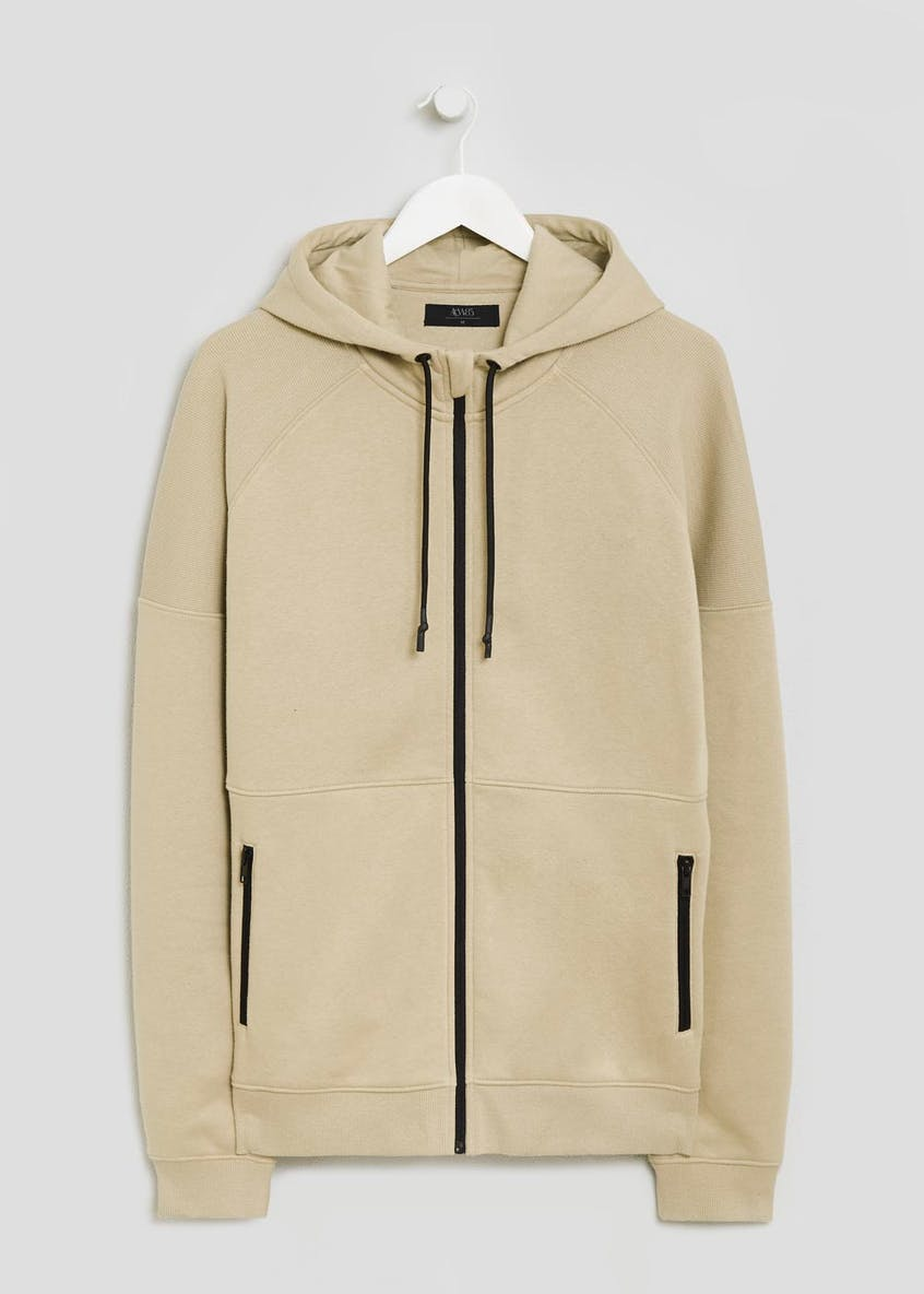 Panel Zip Through Hoodie