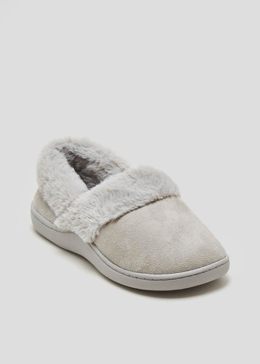 Faux Fur Lined Full Slippers