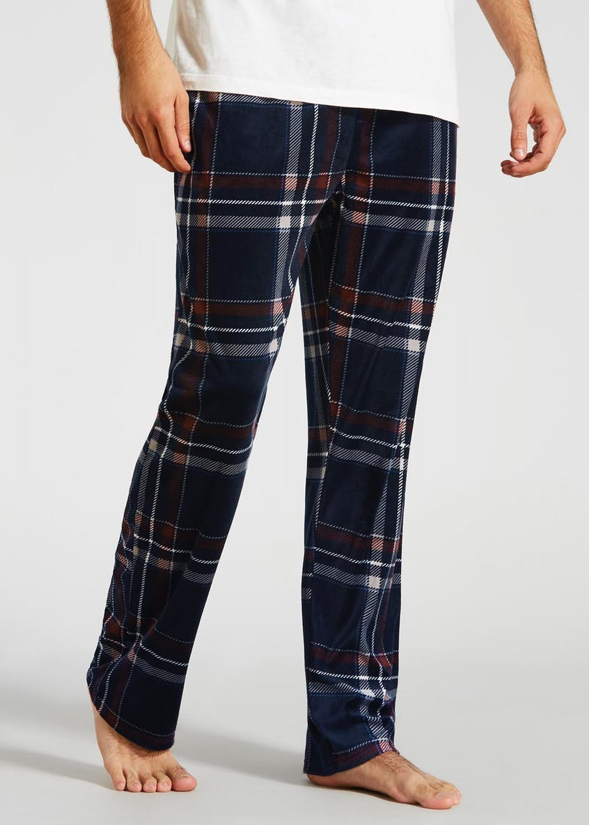 Check Silky Fleece Pyjama Bottoms