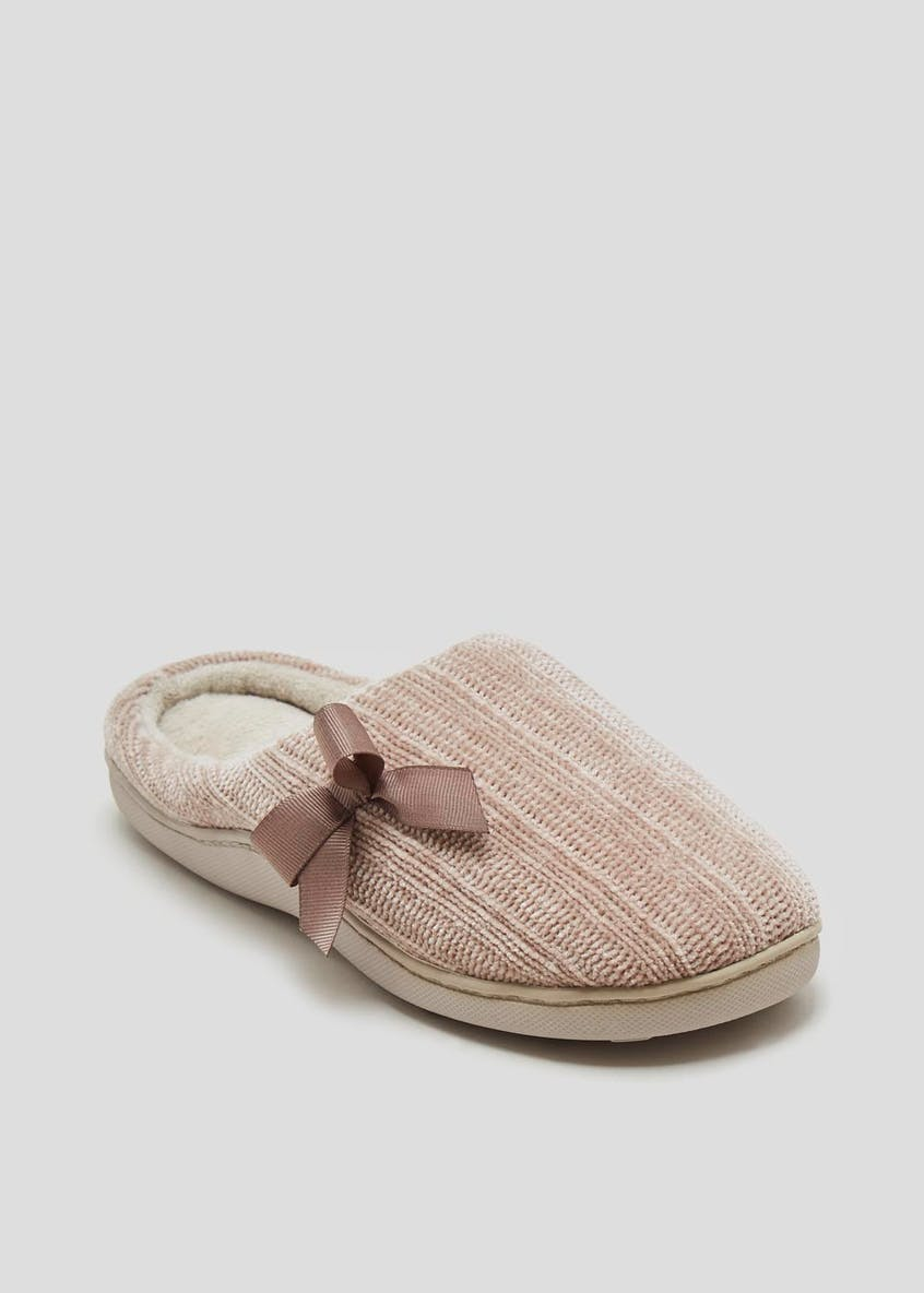 Chenille Hidden Support Mule Slippers