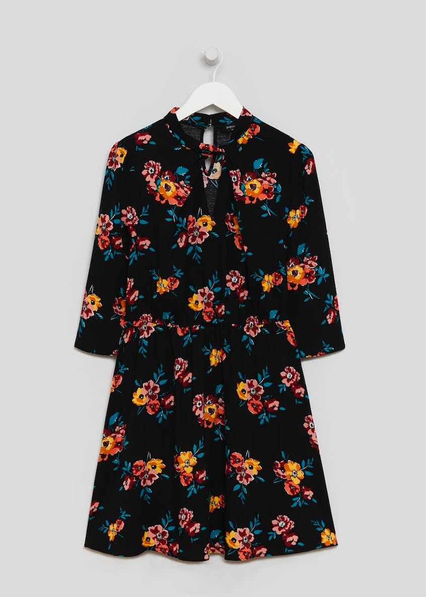 Floral Twist Choker Mini Dress