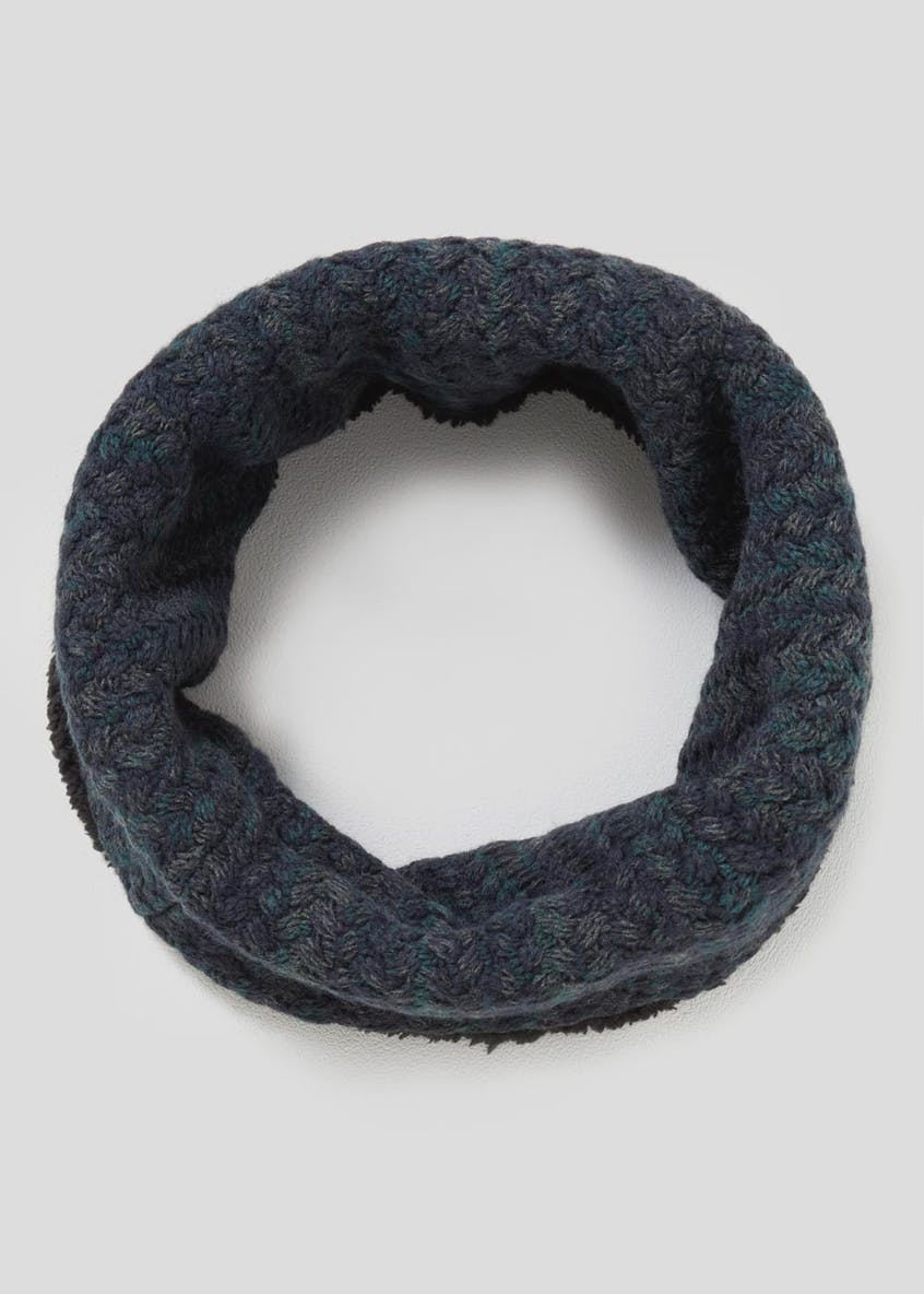 Textured Borg Lined Snood